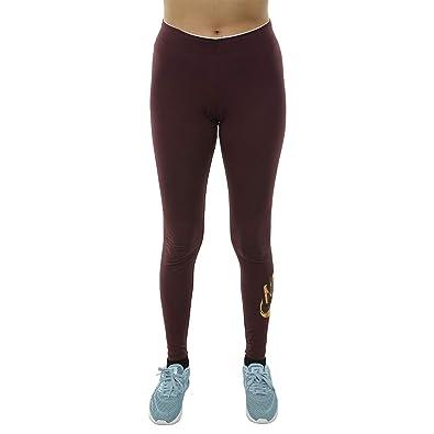 c26b10d62dbf2 Nike Women's NSW GX Metallic Leggings Burgundy/Metallic Gold 939301-652  (Medium)