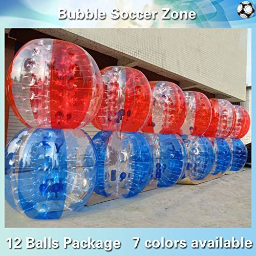 Yoli® (12 Balls Package),inflatable Bubble Soccer, Bubble Football,inflatable Human Hamster Ball,body Zorb Ball,loopy Ball, Bumper Ball,1.2m/1.5m Hieght,dia 4'/5' (Human Water Hamster Ball)