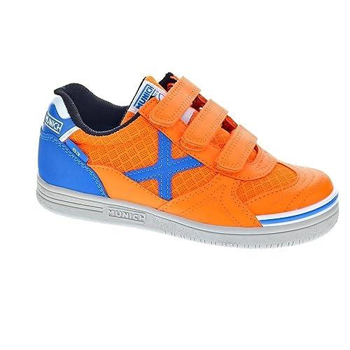Munich Sport G-3 Indoor VCO - Zapatillas Niño Naranja Talla 27: Amazon.es: Zapatos y complementos