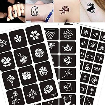300 Muster Handwerk Tattoo Aufkleber Vorlagen Body Art Malerei