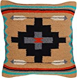 Threads West Throw Pillow Covers 18 X 18 Inches, Hand Woven Southwest, Mexican, and Native American Styles. Hand Crafted Western Decorative Pillow Cases (Indio)