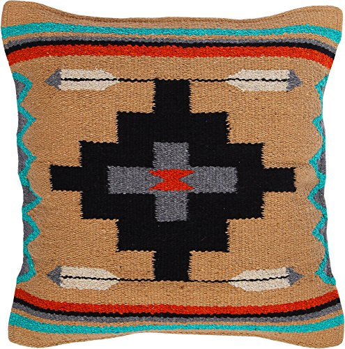 Threads West Throw Pillow Covers 18 X 18 Inches, Hand Woven Southwest, Mexican, and Native American Styles. Hand Crafted Western Decorative Pillow Cases (Indio) by Threads West