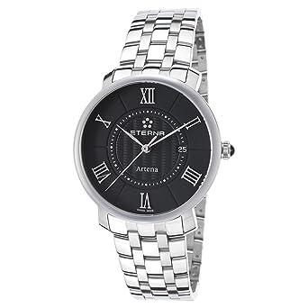 Eterna Artena Lady 2510.41.45.0273 Reloj de 34 mm de acero inoxidable correa de acero inoxidable con fecha: Amazon.es: Relojes