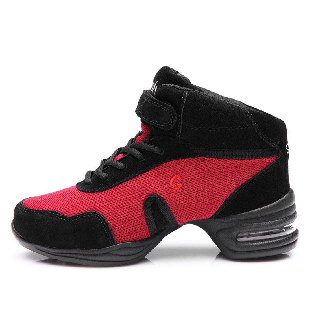 WXMDDN Rote Tanzschuhe Tanzschuhe Männer Männer Tanzschuhe und Frauen Die Maschen Tanz Schuh zu Erhöhen. acb667