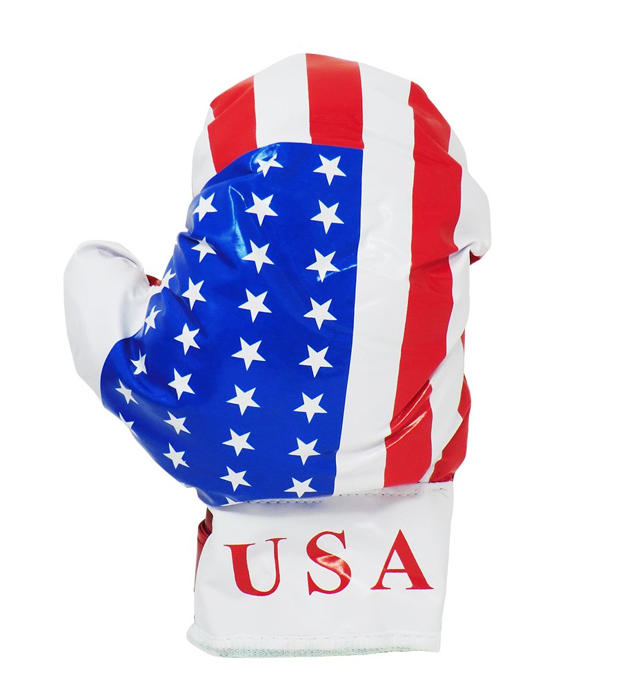 GIFT IDEA CHILD PUNCHING BAG 3+ Cucuba/® BOXE SET WITH AMERICAN FLAG GLOVES