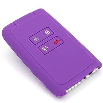 Funda de silicona de Finest-Folia, para llaves de coche con 4 botones morado