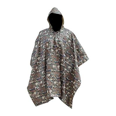 Adult Unisex Reusable Multi-use Rain Poncho.Breathable Rain Cape for Outdoors.Raincoat. at Amazon Men's Clothing store