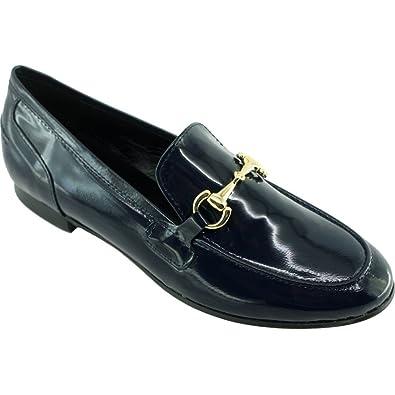 623223b01db54 Angelina® Hinda Mocassin A Mors Casual Petit Talon Slippers Chaussure Femme  Marque Fabrication Espagne Cuir