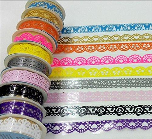 5 Pcs DIY Cute Lace PVC Tape - 1