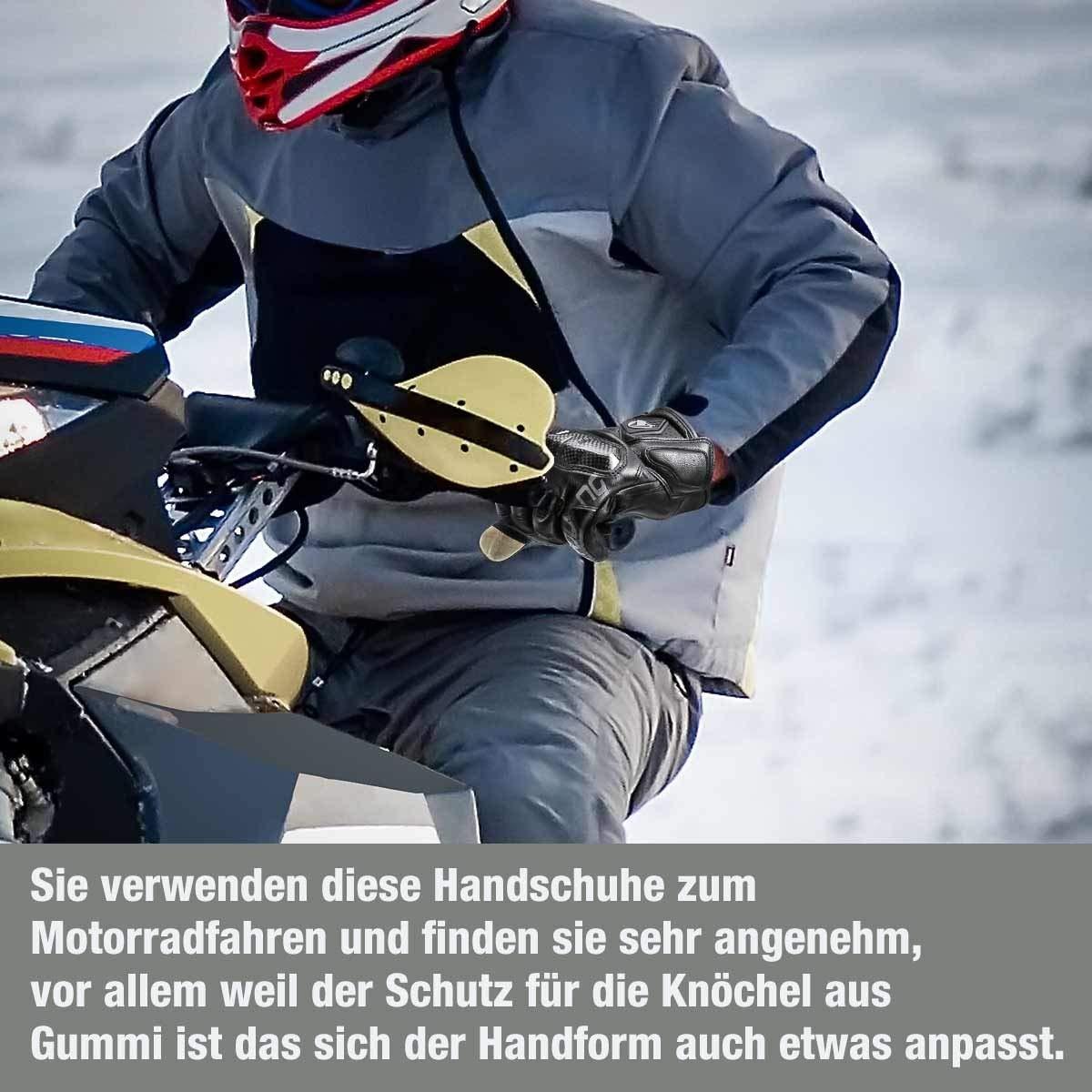 isYoung Touchscreen Fahrradhandschuhe geeiget für Radsport MTB Road Race Motorrad Wandern und andere Sports Unisex Herren Damen L Schwarz