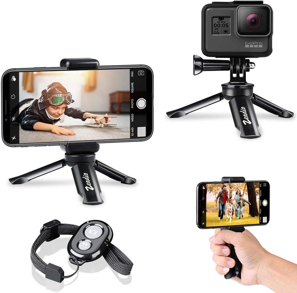 zeadio - Trípode portátil con Bluetooth para Smartphones, cámara ...