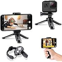 Zeadio Mini statyw do smartfona z Bluetooth, przenośny statyw do kamery sportowej, statyw na blacie biurkowym, statyw do…