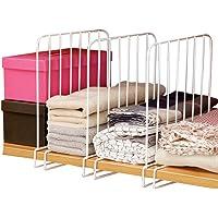 3 separadores de estantes, organizador de ropa, organizador de ropa, ahorra espacio, práctico cajón o estante divisores…