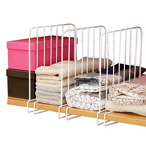 3 separadores para armario, organizador de ropa, armario, separador de espacio, organizador