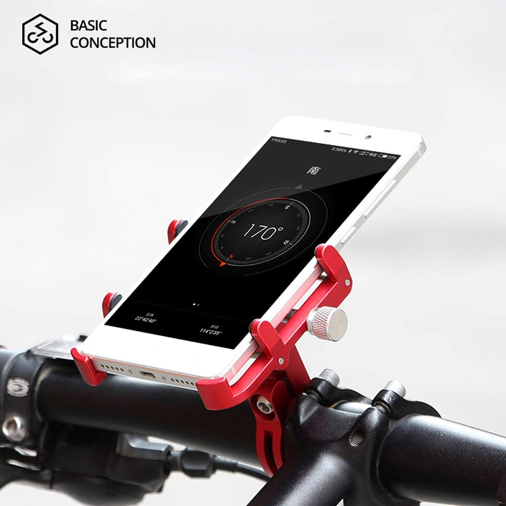 XOSS Bike Cellphone Holder Mobile Support for Mountain Bike Bicycle Handlebar /& Stem Cellphone Holder Aluminium Alloy Adjustable Mobile Phone Mount for Highway Vehicles Blue Plus 6