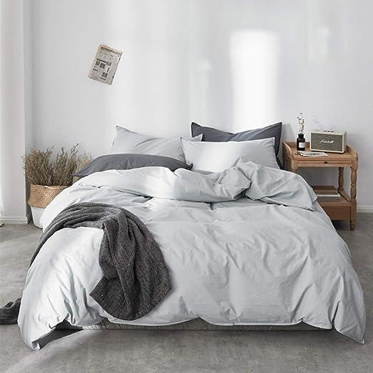 Juego de sábanas de lujo Juego de sábanas de algodón lavado ...