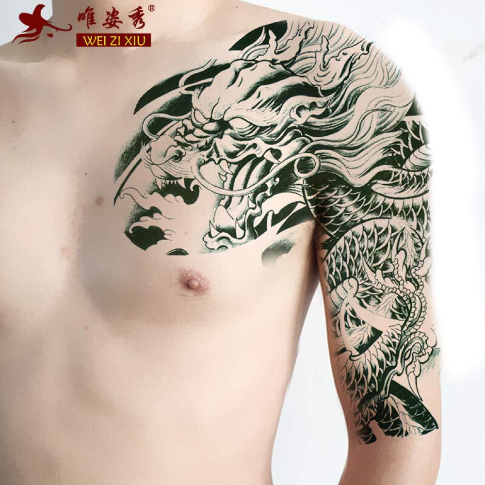 Tatuaje La Mitad De Una Etiqueta Engomada Del Tatuaje Impermeable ...