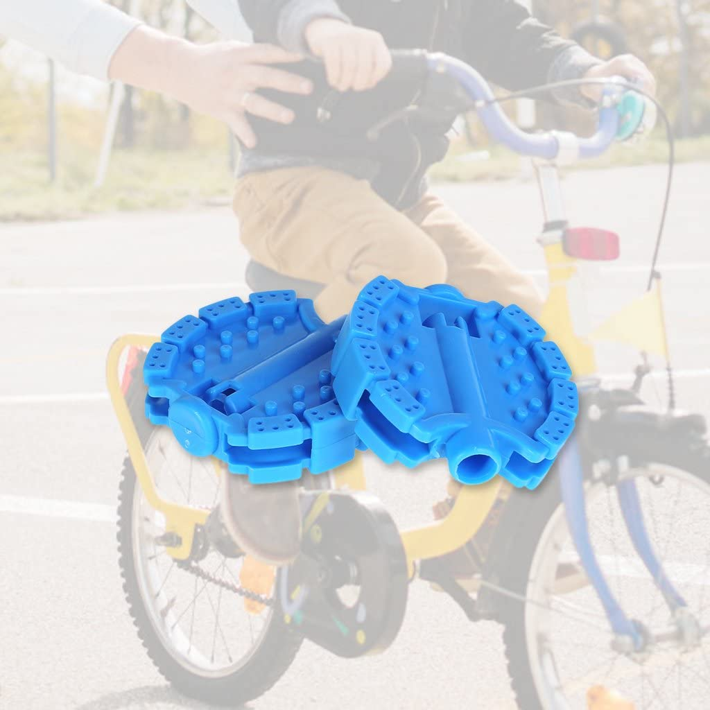 jiulonerst 1 Pair Children Bicycle Pedal,5 Color Optional Bike Tricycle Replacement Cycling Tools Non Slip Bike Parts Accessories