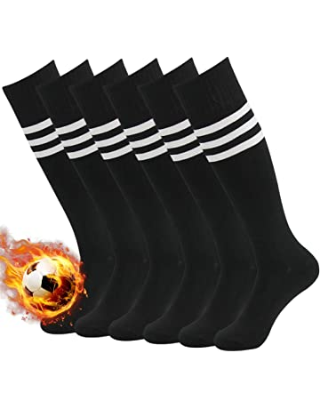 44f797c64c60 3street Unisex Knee High Triple Stripe Athletic Soccer Tube Sock 2 6 10  Pairs