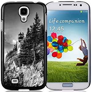 Unique Designed Cover Case For Samsung Galaxy S4 I9500 i337 M919 i545 r970 l720 With Bass Harbor Light Phone Case Cover