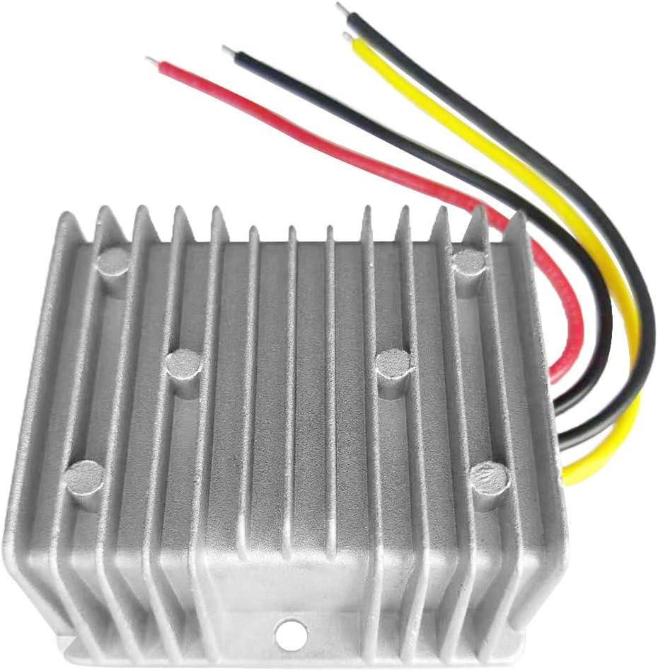 Baugger Convertidor Cc/Cc Eficiente - Regulador de Convertidor de Cc/Cc Portátil 24V Reductor a 12V 20A 240W Transformador de Ahorro de Energía Convertidor a Prueba de Agua