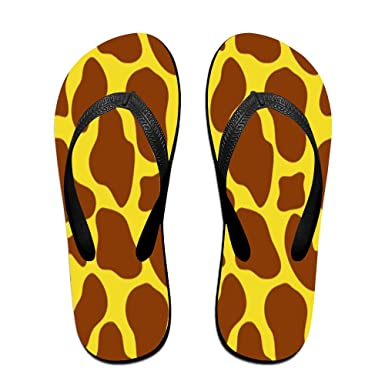 Unisex Non-slip Flip Flops Giraffe With Spots Cool Beach Slippers Sandal