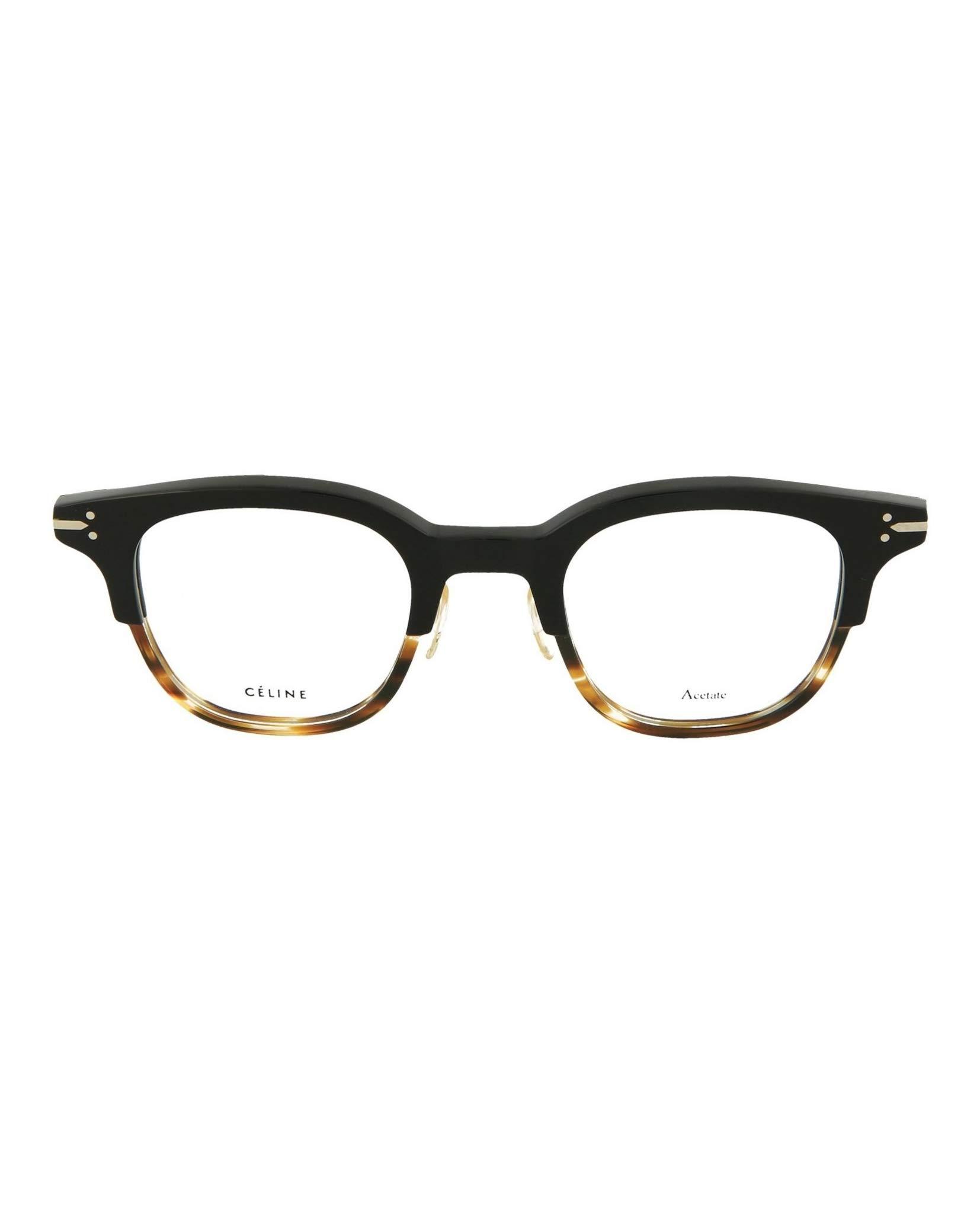 84ab970efa0 Celine Plastic Round Eyeglasses 46 0T6P Black Havana