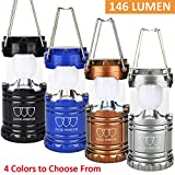 LED Camping Lantern - Gold Armour LED Camping Lantern Flashlight with Battery, Grey