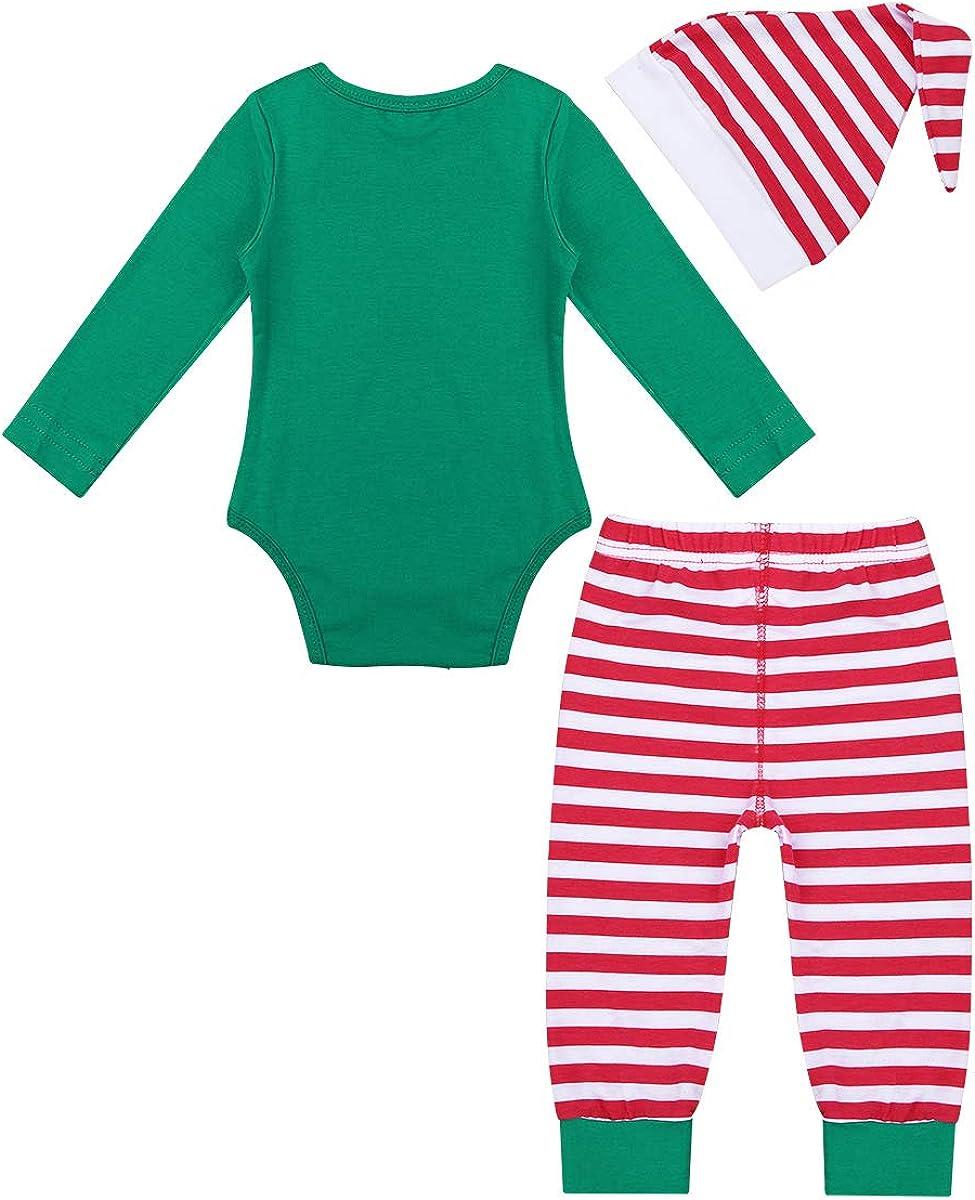 Gorro Santa IEFIEL Vestido Invierno de Fiesta Navidad para Ni/ñas Disfraz Pap/á Noel Conjuntos de Vestidos beb/és Traje de Elfos Vestido Princesa Manga Corta