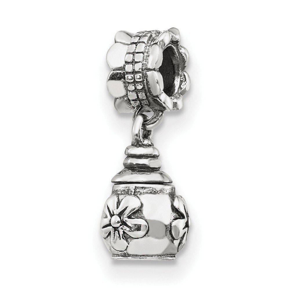 925 Sterling Silver Reflections Floral Ash Dangle Bead