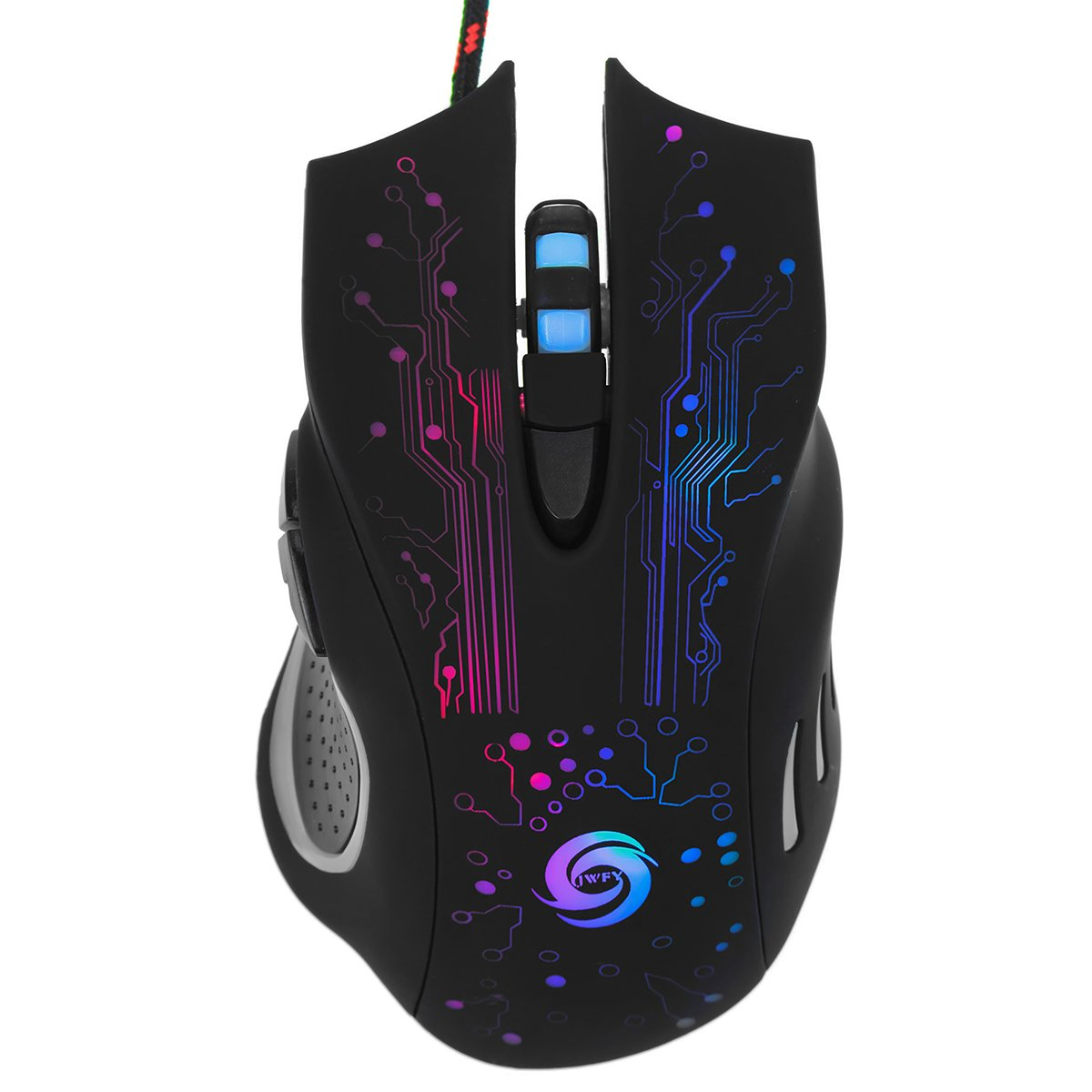 b56ae9f631e Amazon.com: Gaming Mouse USB LED Gamer Mice 5500 DPI Professional Optical Wired  6 Buttons for PC Laptop: Computers & Accessories