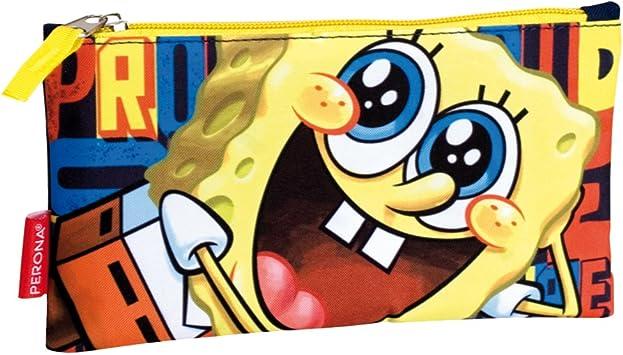 SpongeBob Squarepants Estuche para lápices con la Cara de Bob Esponja (Amarillo): Amazon.es: Juguetes y juegos