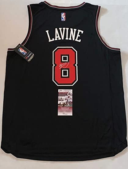 1e3d6bf33 Image Unavailable. Image not available for. Color  Zach Lavine Autographed  Signed Black Chicago Bulls Fanatics Branded ...