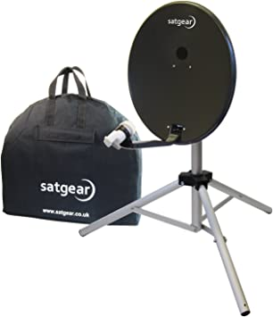 Satgear - Antena parabólica portátil (54 cm), color gris ...