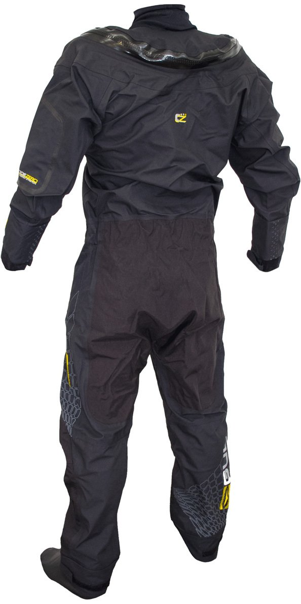 GUL Code Zero Stretch U-Zip Drysuit Dry Suit in Black - Breathable and Waterproof - Includes Underfleece by GUL