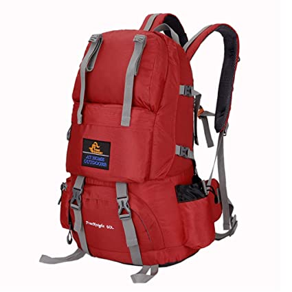 3fdb3291e079 Amazon.com : WGKUMMQN Outdoor Mountaineering Bag 50L Sports Men and ...