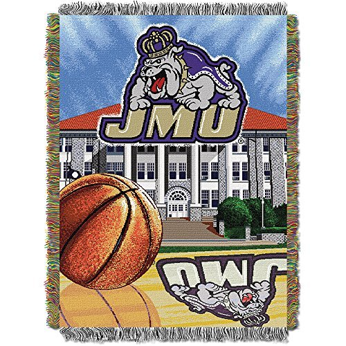 Northwest COL 051 HFA James Madison Dukes NCAA Woven Tapestry Throw (Home Field Advantage) (48