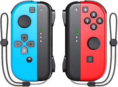 Joy Con Controller (L/R), OIVO Wireless Joy Pad con correa de muñeca para Nintendo Switch, color rojo/azul: Amazon.es: Videojuegos