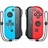 Switch Joy-Pad Controller, KDD Wireless Joy-Pad Controller with Wrist Strap Compatible with Nintendo Switch- Red/Blue