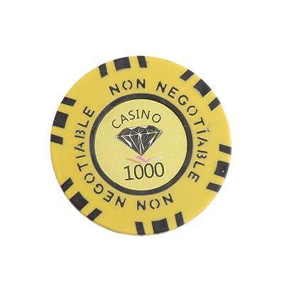 10pcs 45mm Jetons de Jeu Non Négociable en Argile Diamant Jeton Valeur 1-10000 De Poker Casino - 1000, one size