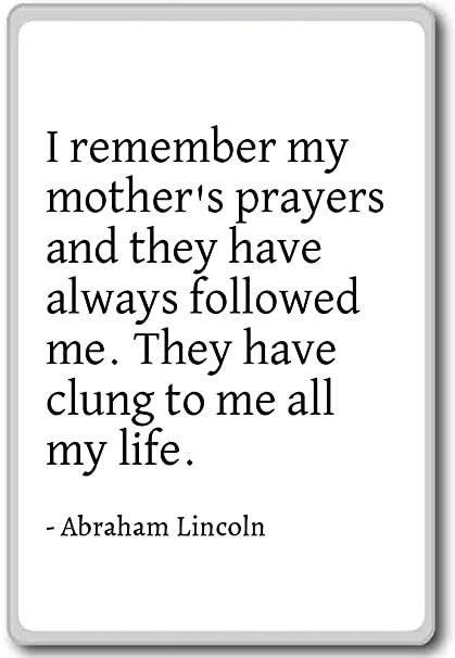 abraham lincoln mother quote
