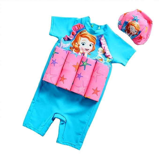 9657d7400945 NIDALEE Kids Girl Float Swimsuit Buoyancy Swimwear for Children Learning  Swim Vest Knee Length Swimming Sui