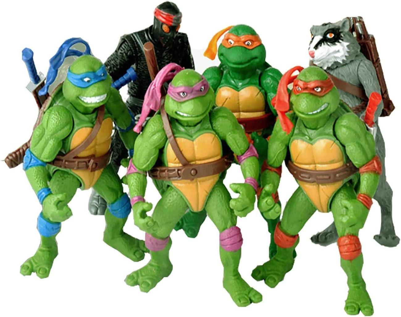Teenage Mutant Ninja Turtles TMNT Action Figures Ninja Turtles Toy Set,Ninja Turtles Set of 6 PCS