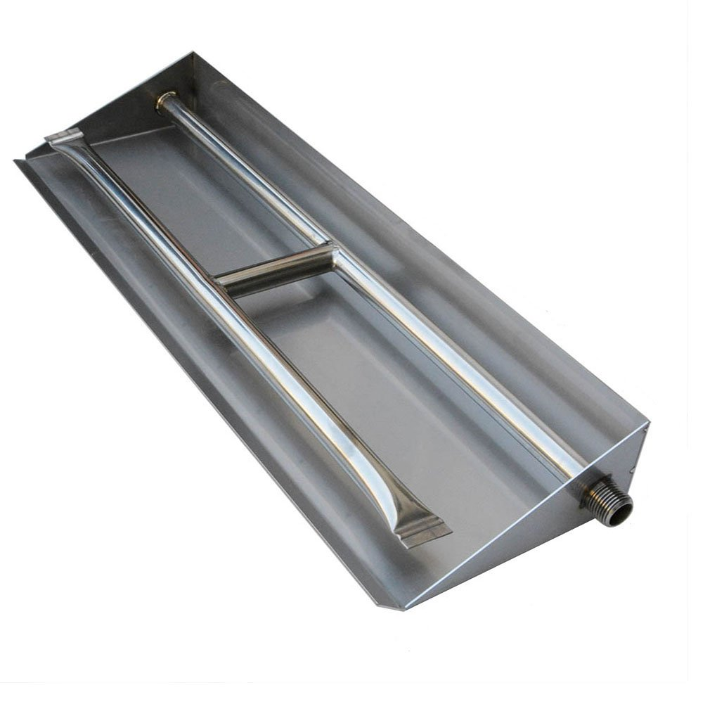Stanbroil Stainless Steel Dual Fireplace Burner Pan, 26.5 Inches by Stanbroil
