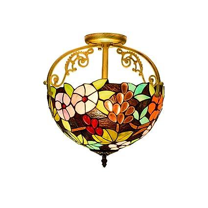 Brandless Moderno La Mitad de 12 Pulgadas de luz de Techo, Tiffany Pastoral Estilo de la UVA de Cristal de la lámpara de Techo de la lámpara Pendiente de la Sala de