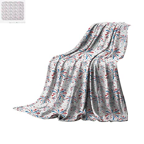 e651e402ad 4th of July Digital Printing Blanket American Festivities with Freedom and  Liberty Themes Summer Celebrations Oversized