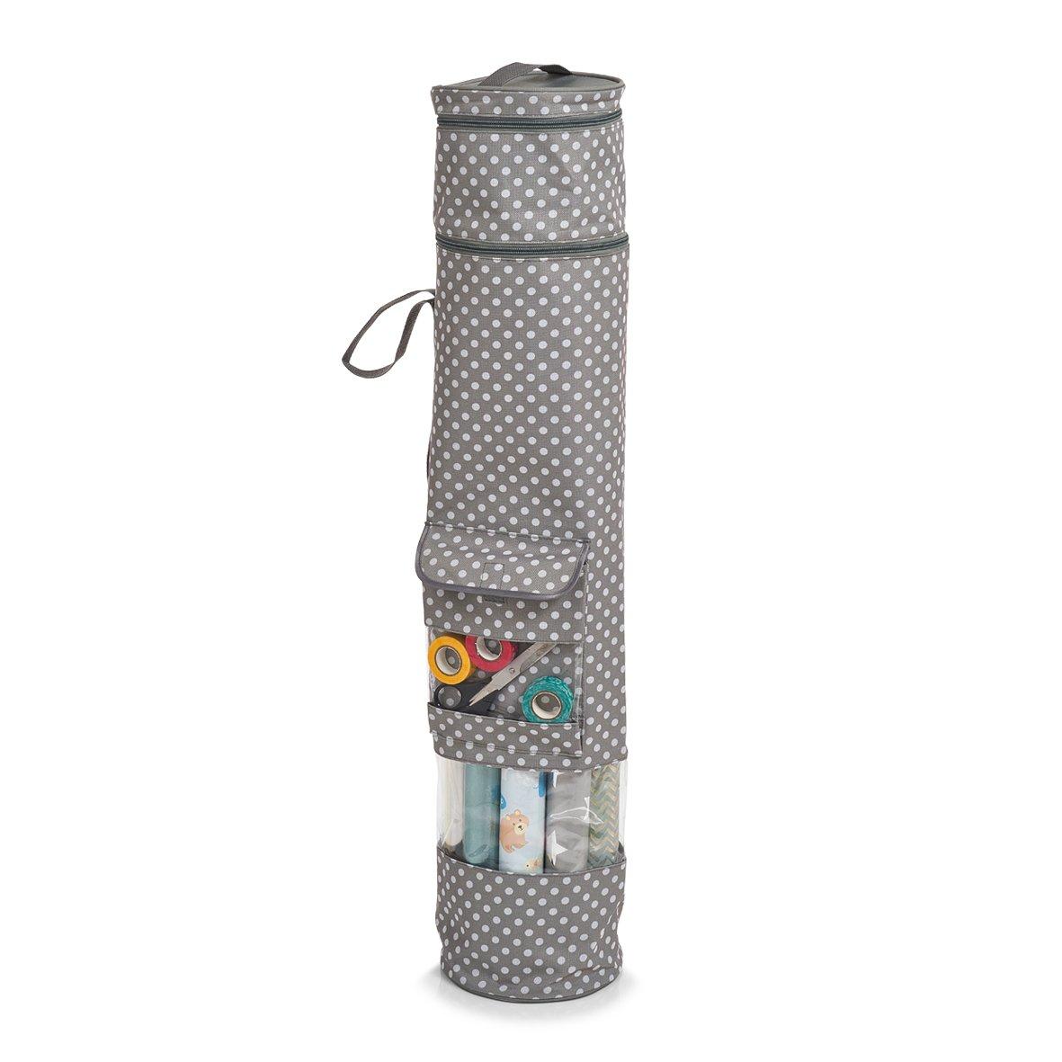 Polyester Gris Zeller 14660 Caja para Papel de Regalo 17x17x85 cm