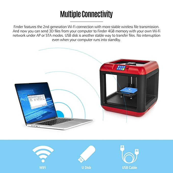 FlashForge Finder Impresora 3D Nivelación Automática Control WiFi ...
