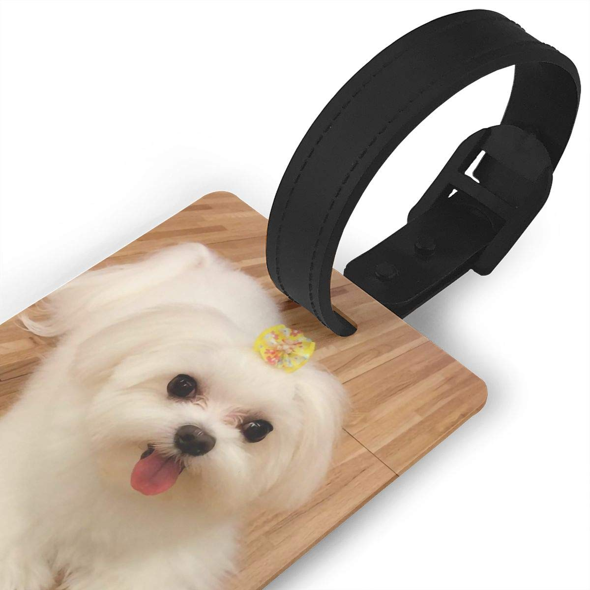 Bichon Frise Travel Tags For Suitcase Bag Accessories 2 Pack Luggage Tags