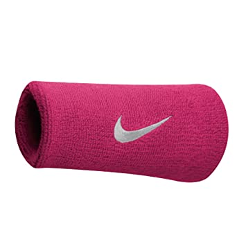 0ed49ad63 Nike Swoosh Doublewide Wristbands Muñequera, Hombre, (Vivid Pink/Blanco),  Talla Única: Amazon.es: Deportes y aire libre